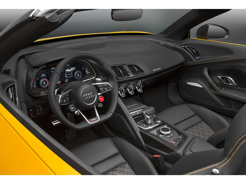 Audi R8 Spyder V10 interior Luxabun