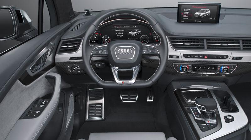 Audi SQ7 TDI interior volante Luxabun