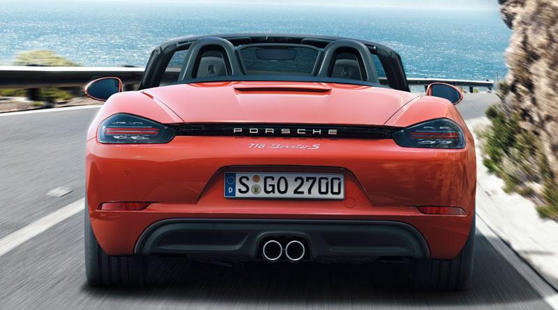 Porsche 718 Boxster S trasera Luxabun