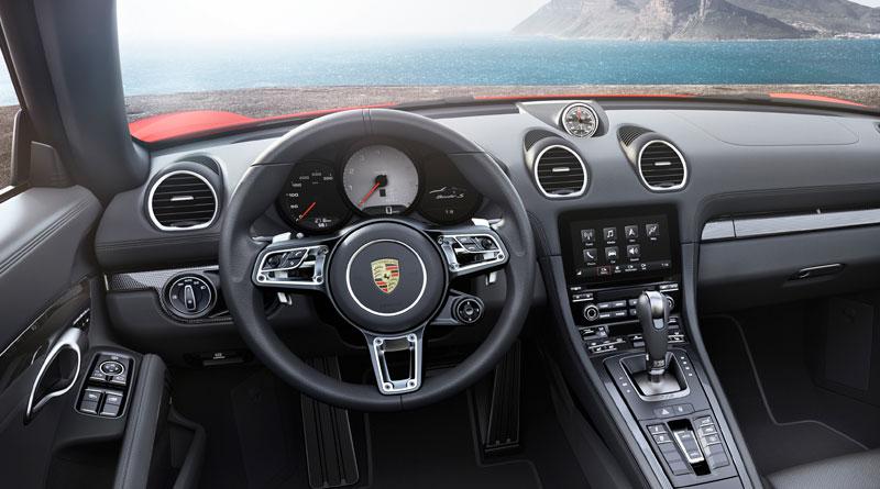 Porsche 718 Boxster S interior Luxabun
