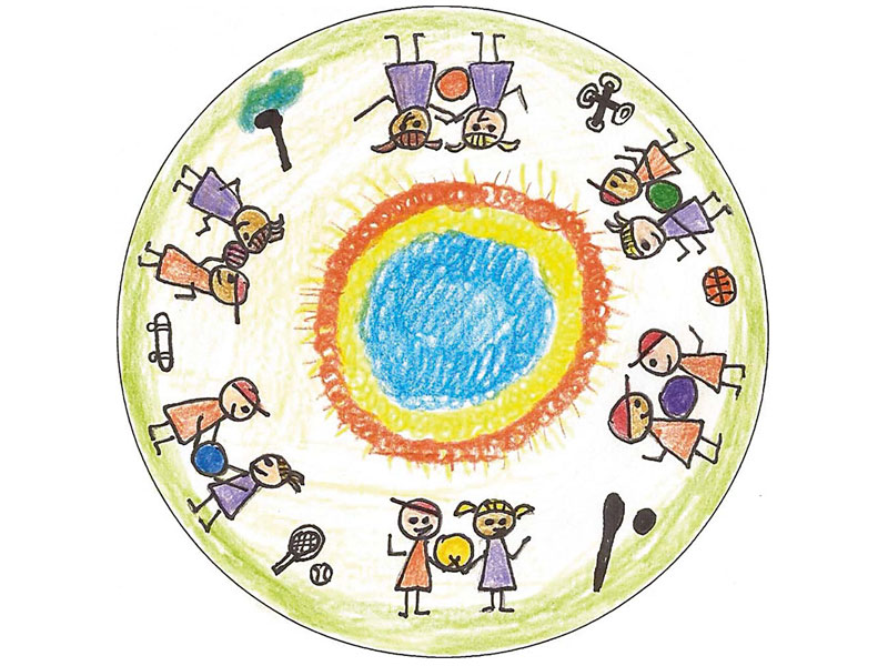 Reloj Portofino Edición Laureus Sport for Good dibujo - Luxabun
