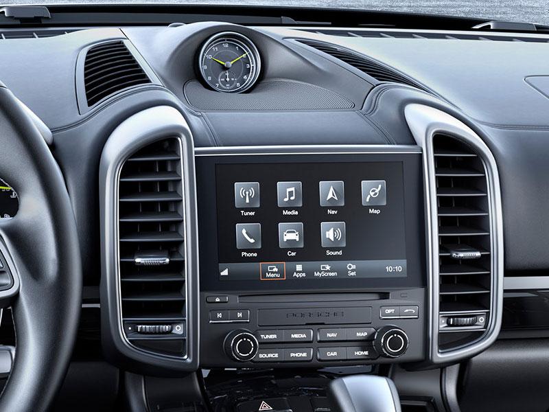 Porsche Cayenne S E-Hybrid Platinum Edition consola interior Luxabun